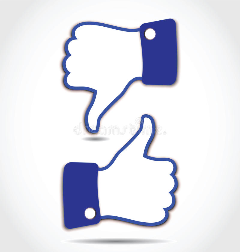 Like and Unlike, Thumps up and Thumps down vector illustration