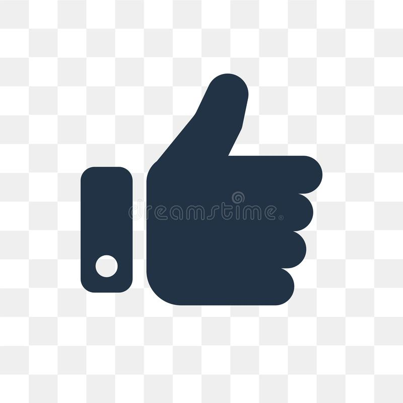 Like vector icon isolated on transparent background, Like trans stock photo