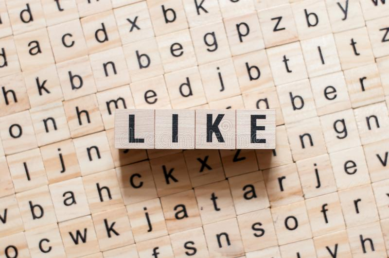 Like word concept royalty free stock photography