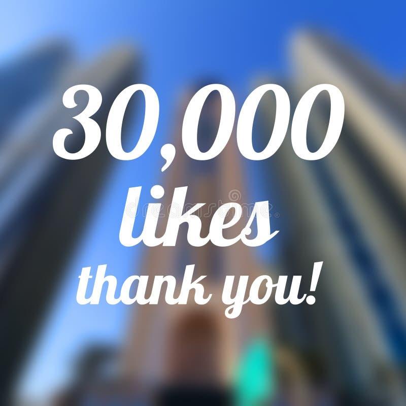 30000 likes stock afbeelding