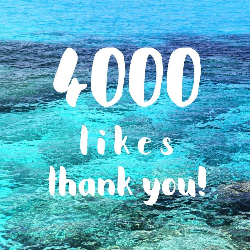 4000 likes royalty-vrije stock fotografie