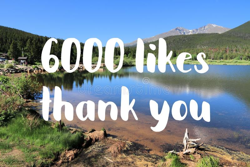 6000 likes royalty-vrije stock foto