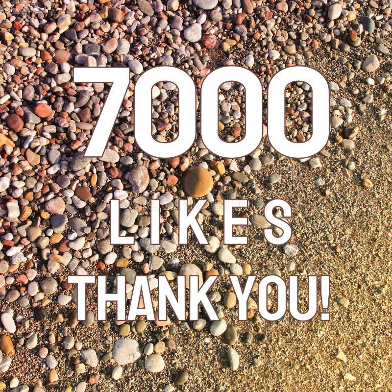 7000 likes royalty-vrije stock foto's