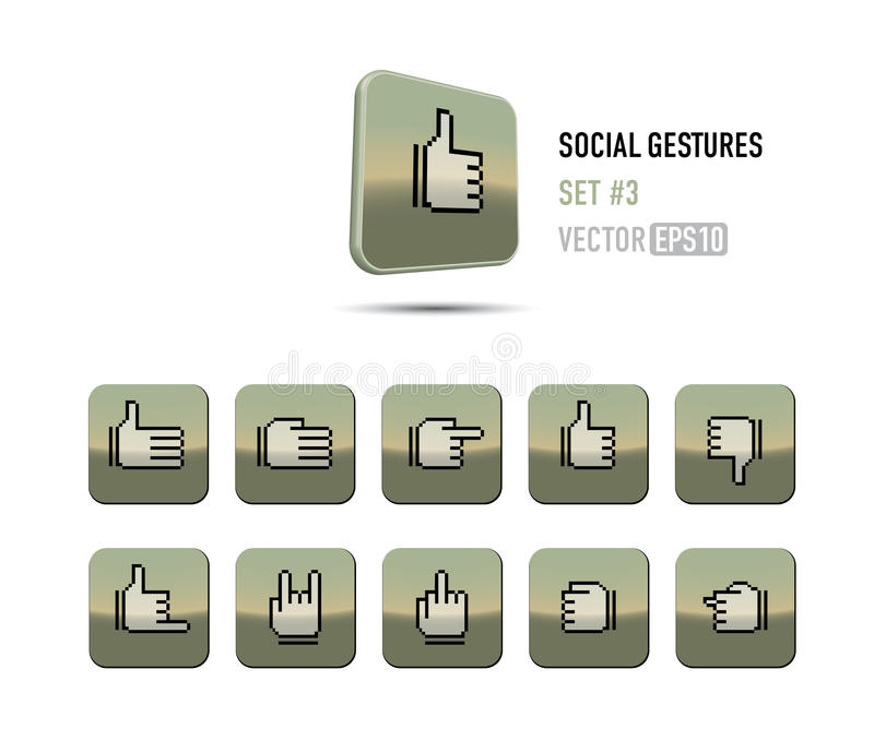 Likes & dislikes and more! stock illustration