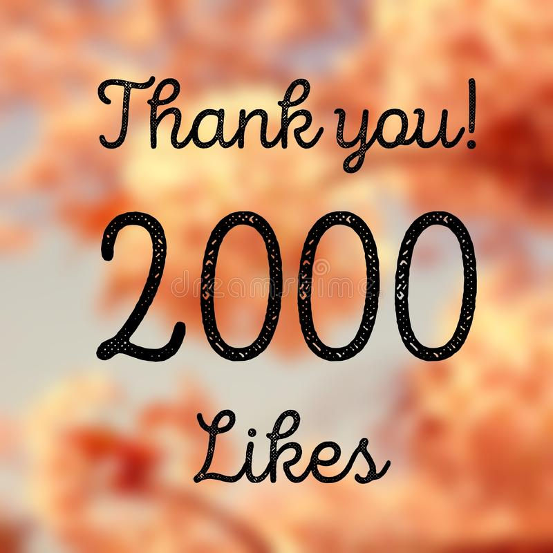 2000 likes royalty free stock photography