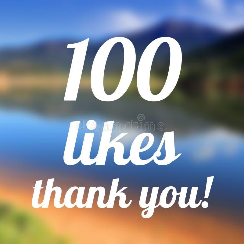 100 likes royalty-vrije stock fotografie