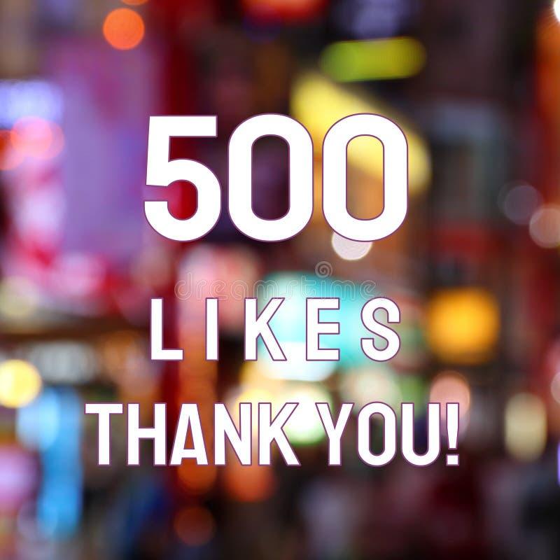 500 likes royalty-vrije stock fotografie