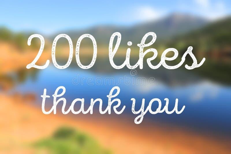 200 likes stock foto's