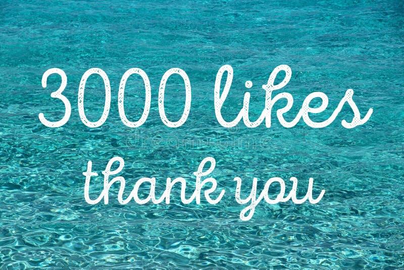 3000 likes thank you. 3000 likes. Thank you banner. Social media milestone stock photos