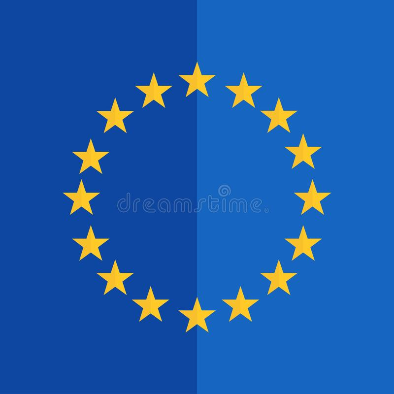 Liknande till den europeiska plana designen för facklig flagga vektor illustrationer
