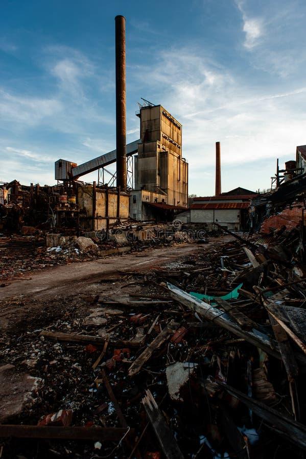 Likwidacja - Opuszczona Fabryka Szkła Jeanette, Pensylwania fotografia stock