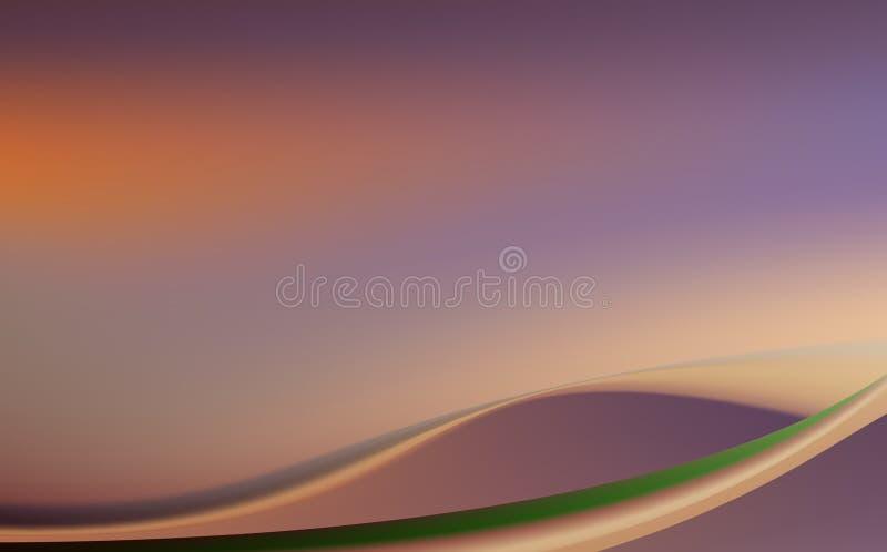 Lilás, roxo, redemoinho, fundo com dobras macias ilustração royalty free