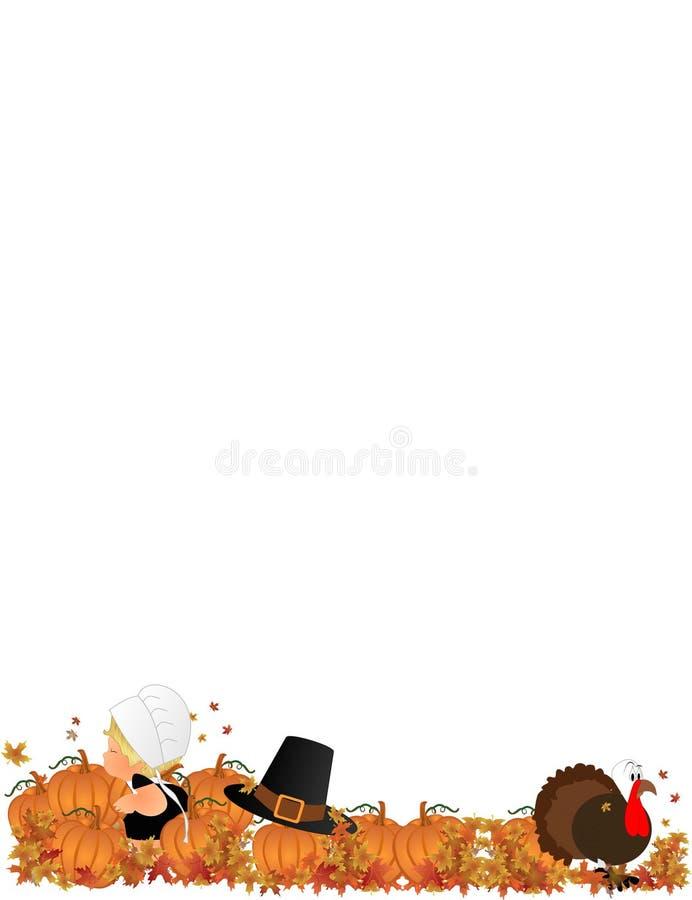 Download Lil Pilgrim Girl In Pumpkin Patch Stock Vector - Illustration: 11172107