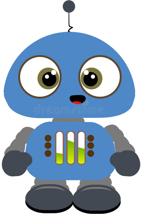 Download Lil robot stock illustration. Image of android, robo - 18106140