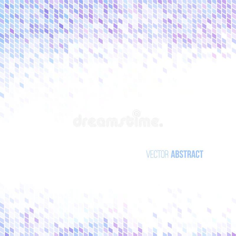Lila azul clara abstracta y fondo geométrico blanco ilustración del vector