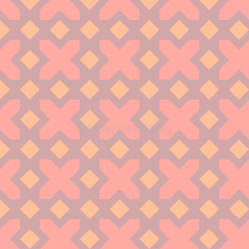 Lila bakgrund med geometriska diagram i rosa färger tonar/, stock illustrationer