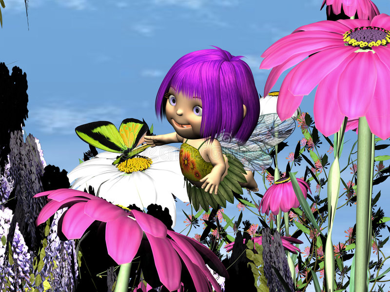 Lila Fliar - 01 ilustração do vetor