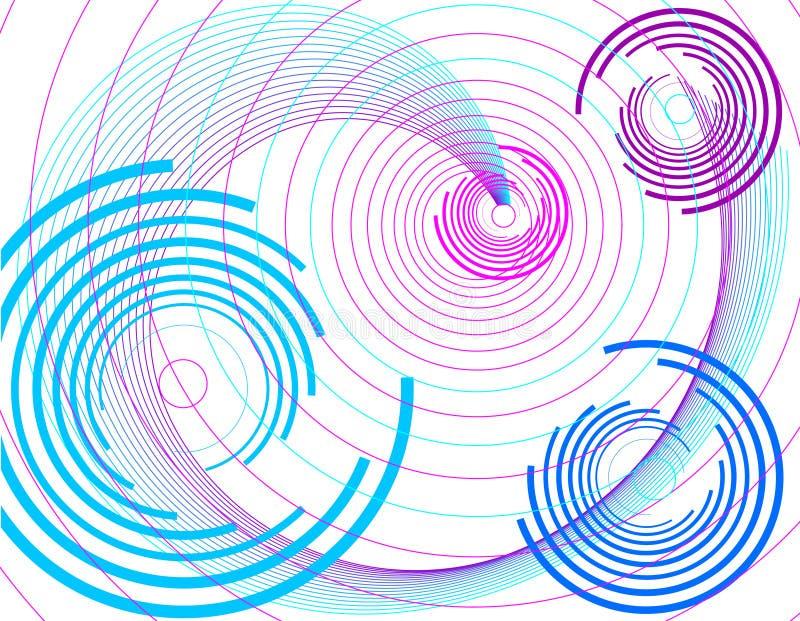 Lila Hintergrund mit Kreis. lizenzfreie abbildung