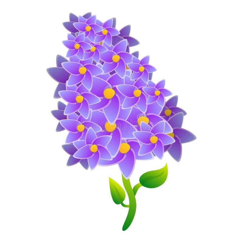 Lila Ikone der Blüte, Karikaturart stock abbildung