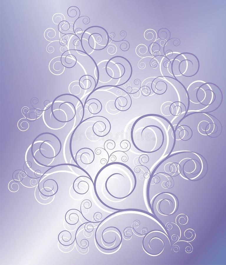 lila modell stock illustrationer