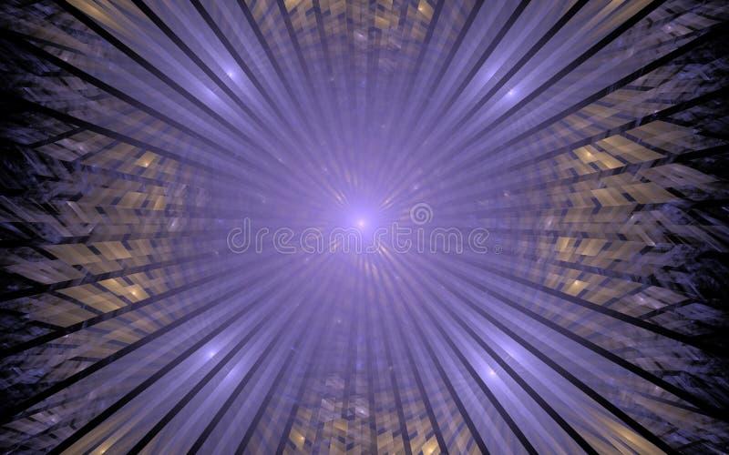 Lila Portal in das Unbekannte vektor abbildung