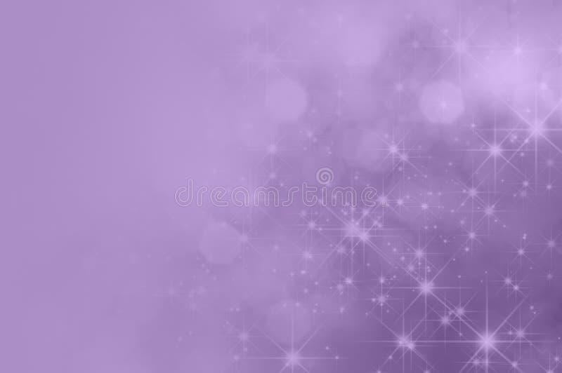 Lila purpury gwiazda Blaknie tło ilustracja wektor