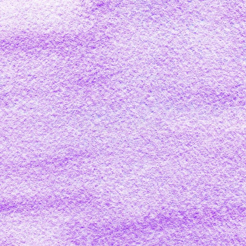 Lila rosa vattenfärg texturerad bakgrund Lutningfläckar och suddigheter för hand utdragna purpurfärgade Abstrakt målad fyrkant te royaltyfri illustrationer