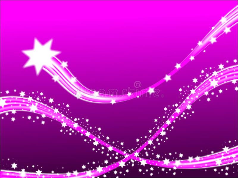 Lila Schießen-Sterne stock abbildung