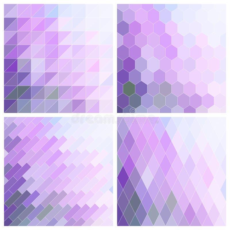 Lila Tile Background Set ilustração stock