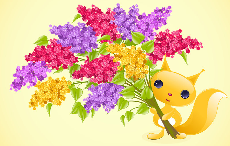 lila wiewiórka royalty ilustracja