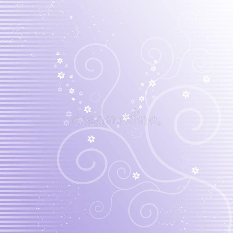Lilac achtergrond met bloeit vector illustratie