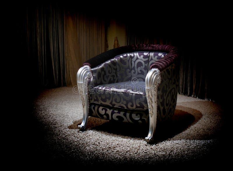 Lilac armchair stock photos