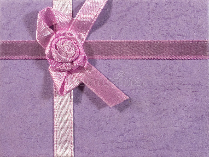 Download Lilac Background With A Ribbon Stock Photo - Image: 7380376