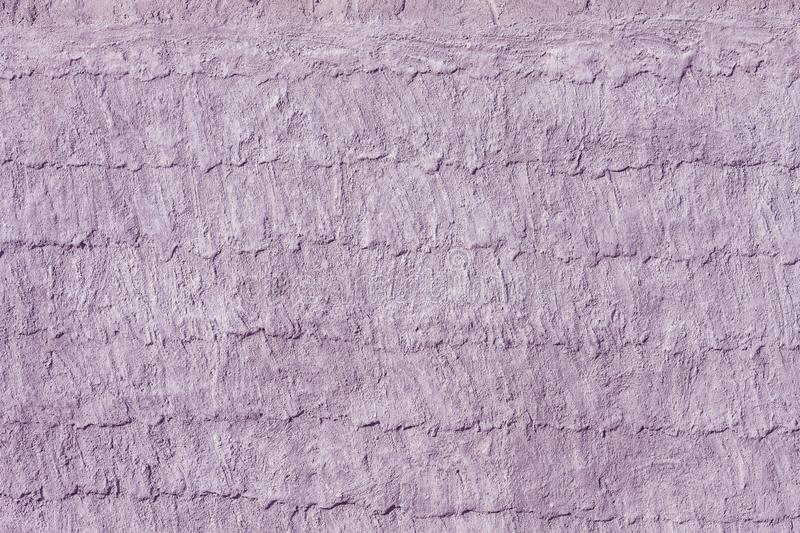 Lilac cement or concrete wall texture and background seamless stock image