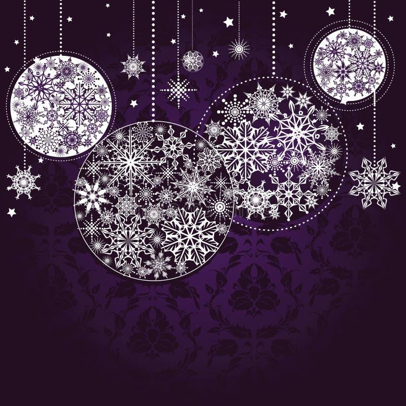 Lilac Christmas background stock illustration