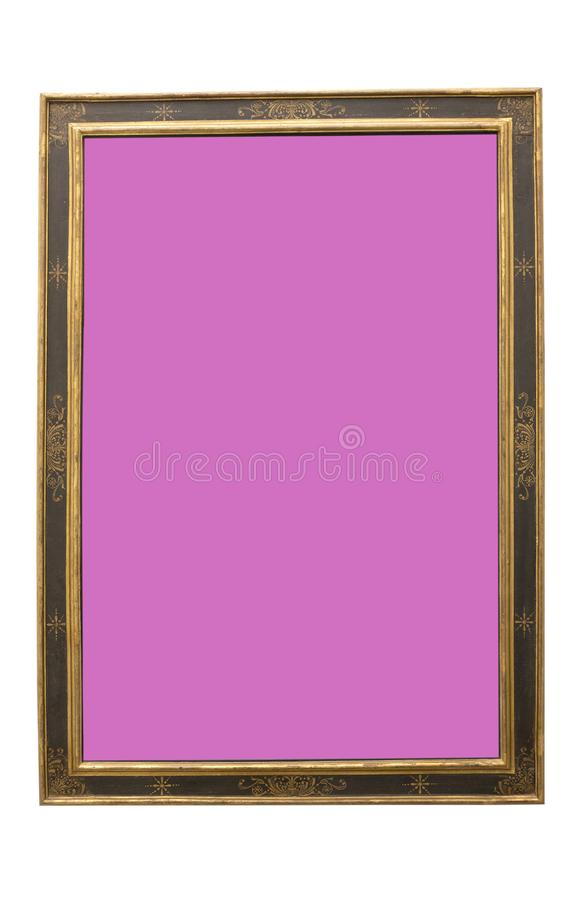 Lilac Colour Surface Old Frame For Painting Stock Image - Image of ...