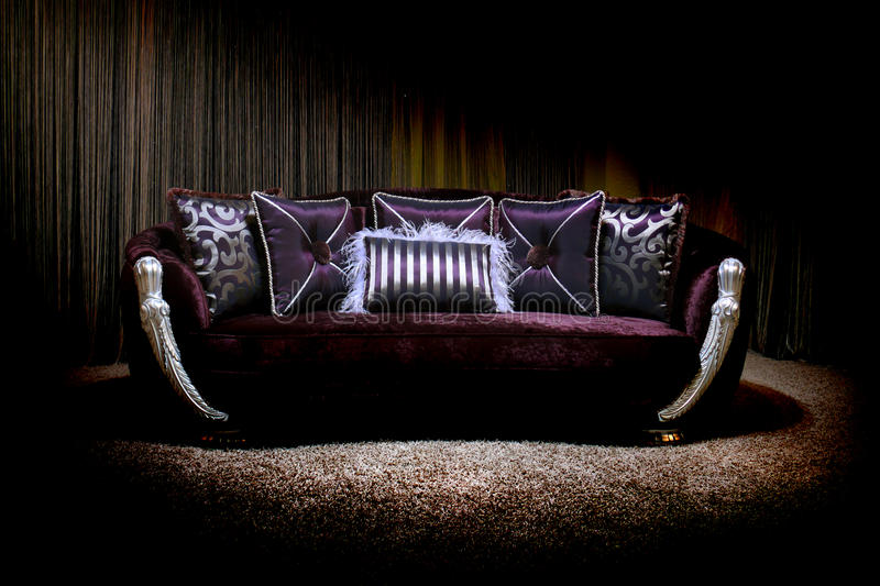 Lilac couch royalty free stock photo