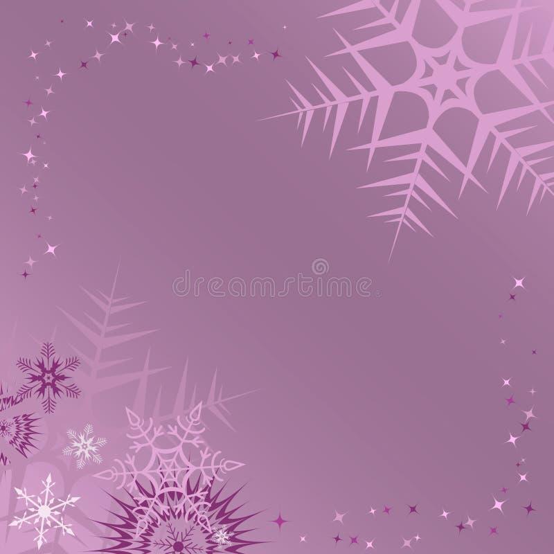 Lilac de winterframe. Vector illustratie royalty-vrije illustratie