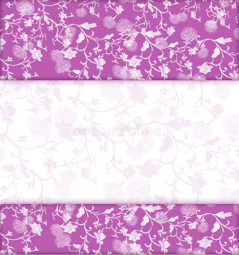 Lilac floral banner