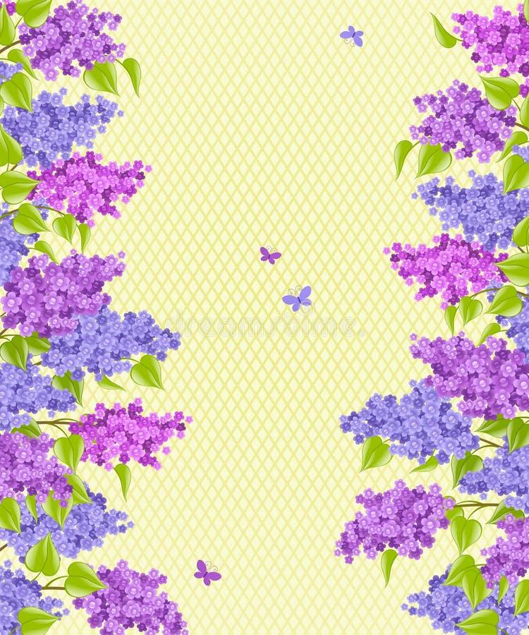 Lilac. Fundo floral. ilustração do vetor