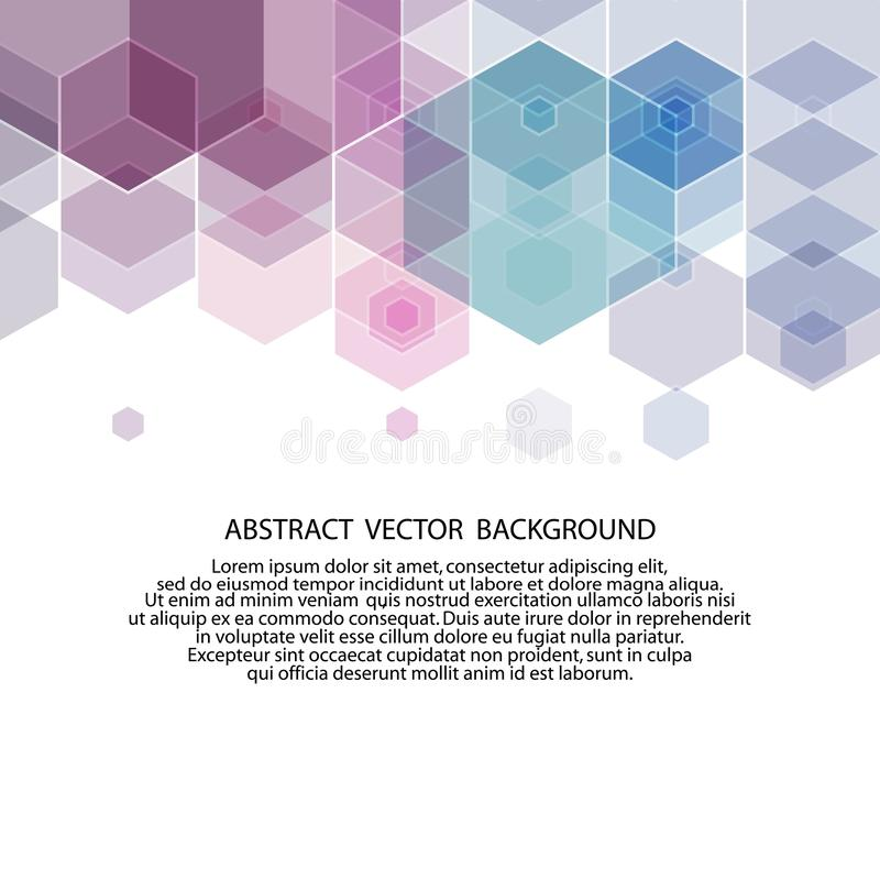 Lilac hexagon background. abstract illustration. presentation layout. eps 10. Lilac hexagon background. abstract illustration. presentation layout polyhedrons stock illustration