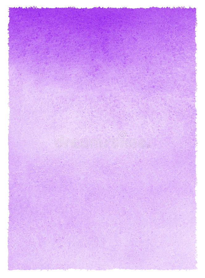 Lilac, lavender watercolor stains gradient background stock illustration