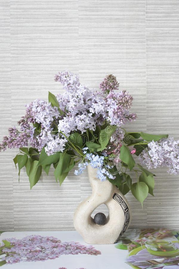 Lilac, Lilacs in a Vase royalty free stock photo