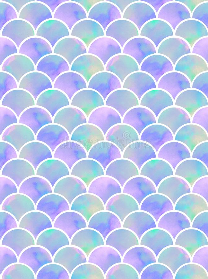 Lilac mermaid`s scales seamless pattern royalty free stock images