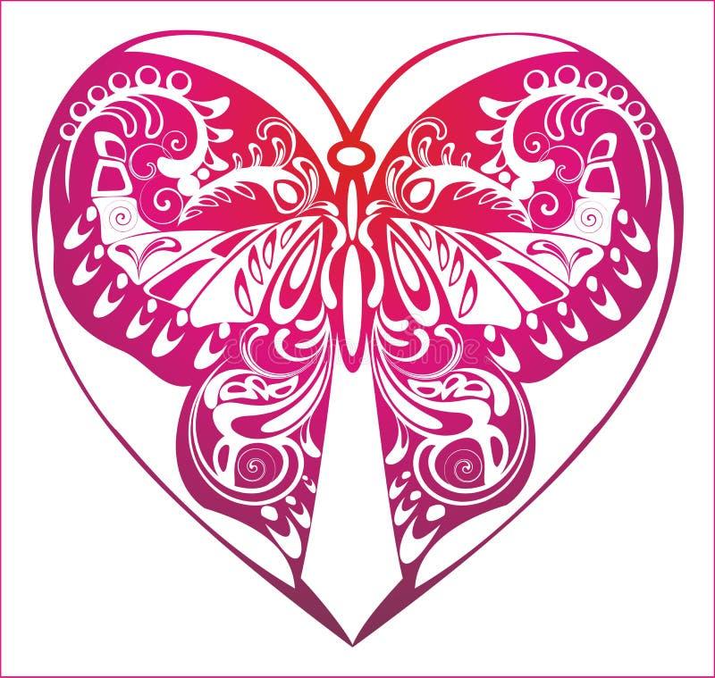Lilac ornament met bloeit royalty-vrije illustratie