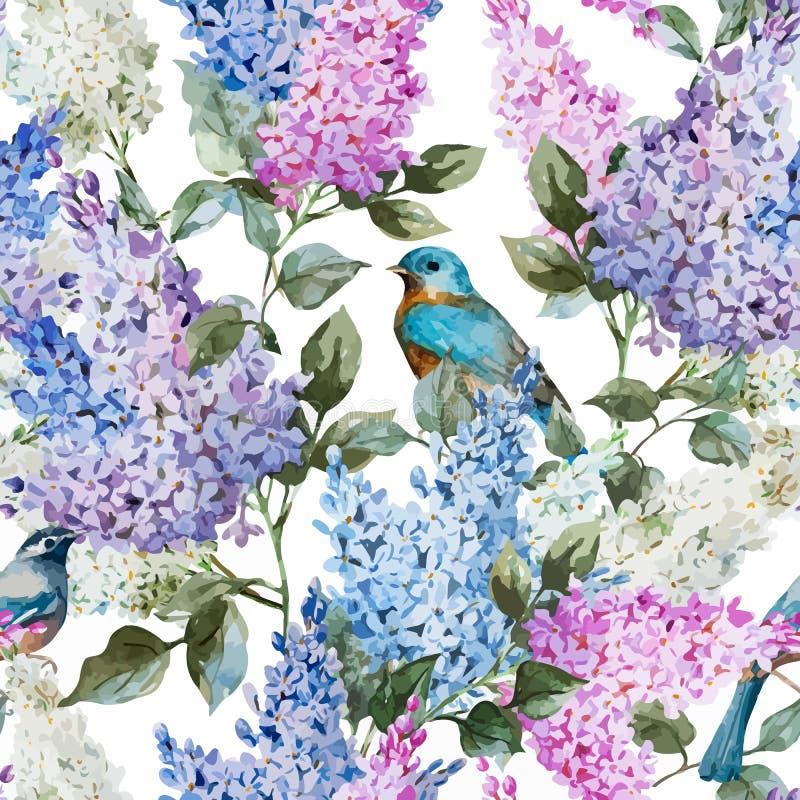 Lilac patroon vector illustratie