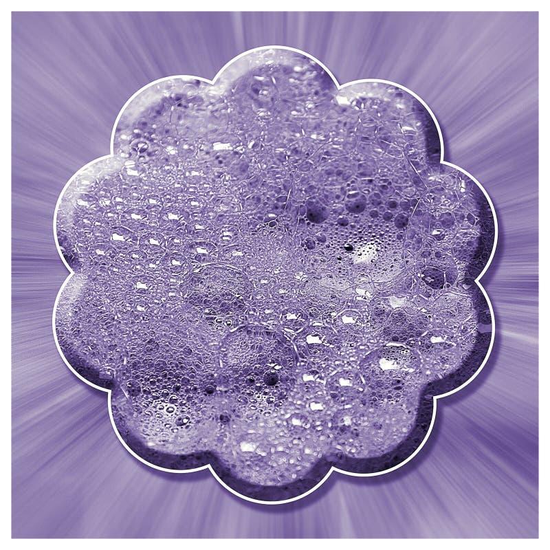 Lilac Samenvatting van de Bellenbloem royalty-vrije stock afbeelding