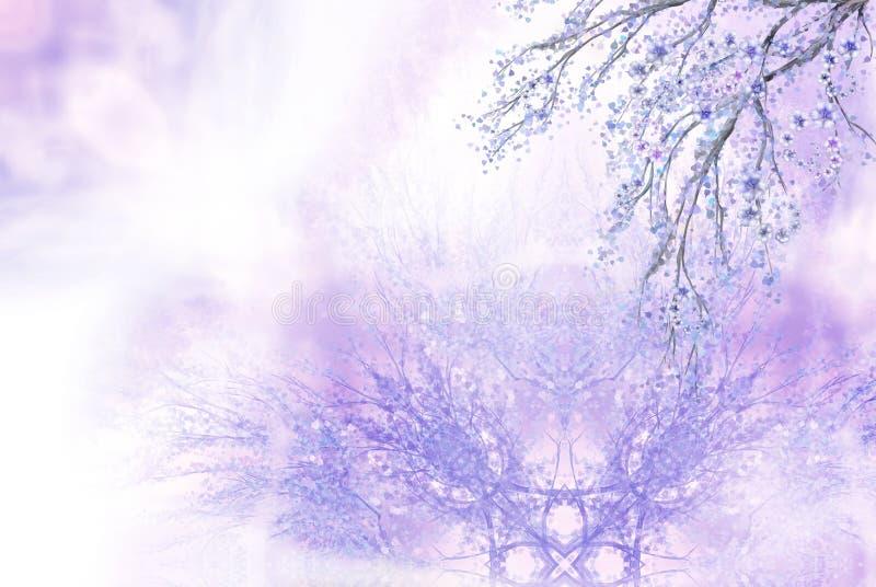 Lilac spring background royalty free illustration