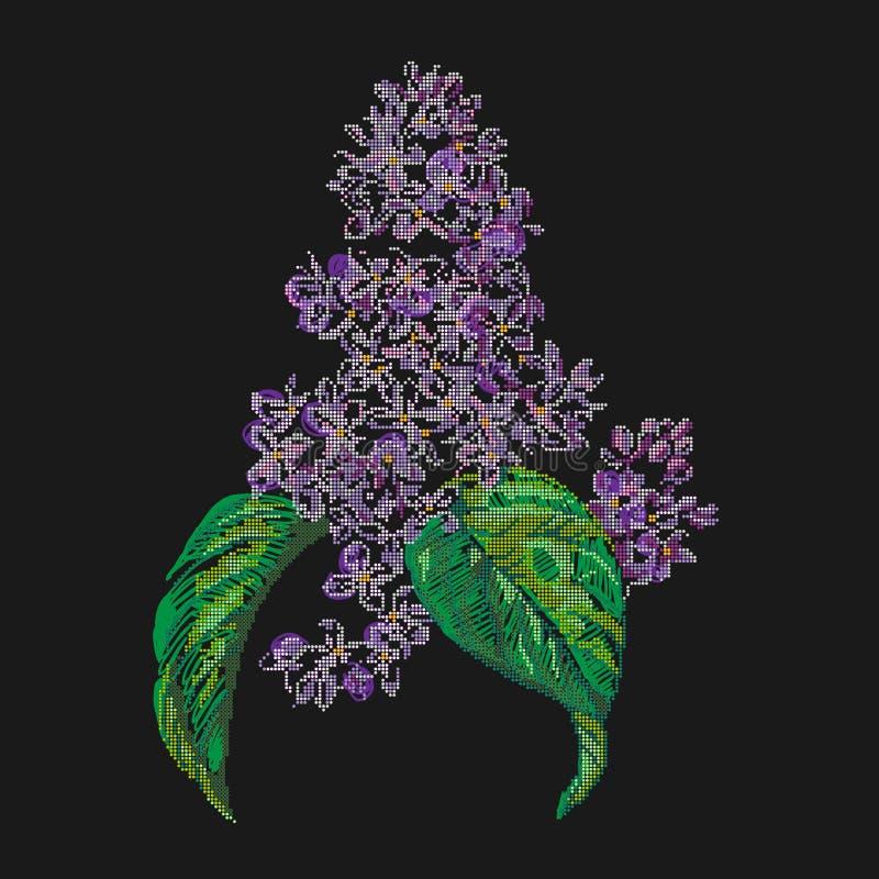Lilac vintage engraved illustration royalty free stock images