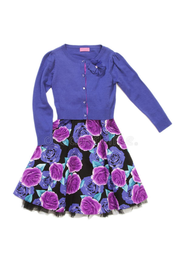 Download Lilac Woman Blouse And Skirt Stock Photo - Image: 23783578
